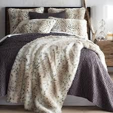 Faux Fur Leopard Print Blanket & Sham | Pier 1 Imports &  Adamdwight.com