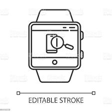 Telefon Akıllı Saat Fonksiyonu Doğrusal Simgesini Bulun Cihazın Ve  Kilitleme Ekranının Konumunu Gösteren Ses Uyarısı İnce Çizgi Çizimi Kontur  Sembolü Vektör Yalıtılmış Anahat Çizimi Kullanılabilir Kontur Stok Vektör  Sanatı & Akıllı Saat'nin