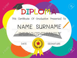 school and kid diploma certificate design template royalty  school and kid diploma certificate design template stock vector 62199294