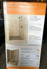 schluter shower kit kerdi 48 x 72 with brushed nickel drain
