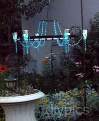 diy chandelier with solar lights