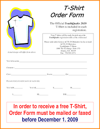 T Shirt Order Form Template Free Parts Of Resume Qpohyotz Invoice