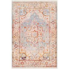 9 x 13 large transitional gray and orange area rug ephesians