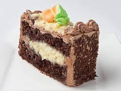 slice of german chocolate cake.  Cake Inside Slice Of German Chocolate Cake A