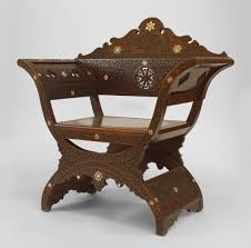 Middle eastern style furniture Cheap Middle Eastern Moorish Carved Walnut Savanarola Style Arm Chair With Spindle And Ball Round Back Panel 19th Cent Price 850000 1stdibs Middle Eastern Moorish Carved Walnut Savanarola Style Arm Chair With