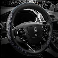 leather steering wheel covers universal 15 inch breathable anti slip odor free