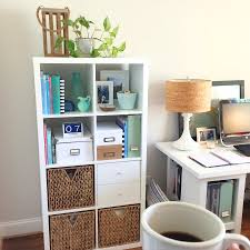 ikea office shelving. organizing your home office with the ikea kallax shelf shelving c