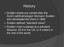 Snellen Chart Definition Ppt Visual Acuity Va Using The Snellen Chart Powerpoint