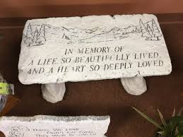 Memorial Program Mesmerizing In Memory Of A Life Memorial Bench In Harrison Township MI R Flowers