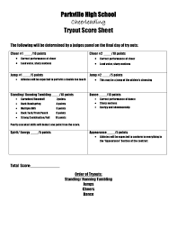 Tryout Score Sheets | Cheer | Pinterest | Scores, Cheer And Cheerleading