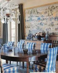 bunny williams used colorful framed scenic chinese wallpaper to unify this dining room showcased in her book point of view