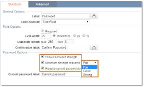 Caspio Password Options - Help Online