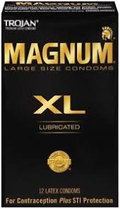 magnum xl size trojan magnum xl size lubricated condoms 12 pack made in the usa