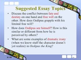 oedipus the king  34 suggested essay topics