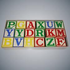 vintage halsam large alphabet blocks unused in original box vintage vault ruby lane