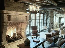 best farmhouse stone fireplace ideas on the perfect living room vaulted ceilings and an