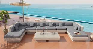 Venice Beach Outdoor Wicker U Shaped Sectional Sofa by Las Vegas