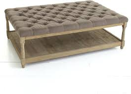 impressive tufted ottoman coffee table with storage round leather rothwell bonded bench impress