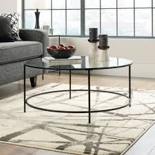 round contemporary coffee table black mathis brothers furniture sgs tables and end tablenbspin wood glass sets