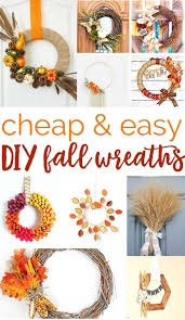 over 20 and easy diy fall wreaths you can make at home no