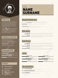 mini st cv resume template simple design royalty mini st cv resume template simple design stock vector 46955612