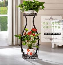 87*38*30cm big size 2 pots european balcony and indoor flower pot holder  garden flower stand iron flower pergolas-in Flower Pots & Planters from  Home ...