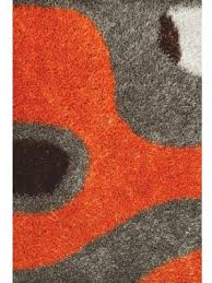 gy rug orange grey white dark brown