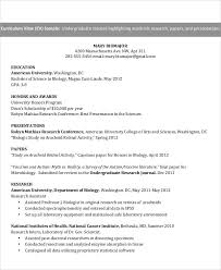 Undergraduate Student Cv Example Resume For Undergraduate Student Resume Sample