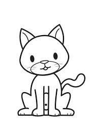 Kleurplaat Poes Cat Applique Coloring Pages Cat Coloring Page
