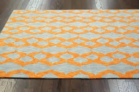 blue rug grey couch modern orange more views contemporary yellow hand hooked area
