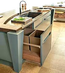 kitchen islands with trash bins trash can kitchen island with trash bin kitchen islands with trash bins home decorating trends mobile trash can kitchen