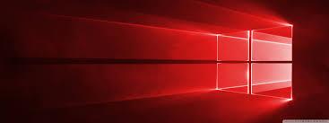 Windows 10 Red in 4K Ultra HD Desktop ...