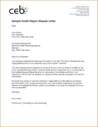 Credit Dispute Letter Format Letter Idea 2018
