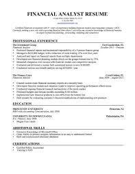 Financial Consultant Sample Resume Resume Examples Templates