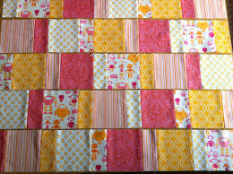 Charm Squares Baby Quilts – Piecing advice | Nina With Freckles & Charm Squares Baby Quilt with wallpaper marigold - Charm lines done Adamdwight.com
