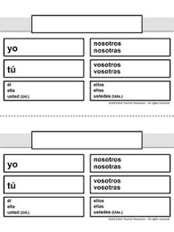 Blank Spanish Conjugation Charts With All Conjugations 46 Inquisitive Blank Conjugation Chart