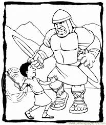 David Goliath Printables Free Printable Coloring Page David And