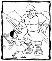 David Goliath Printables Free Printable Coloring Page David And
