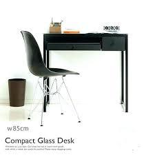 computer in glass desk desks with storage rack learning des