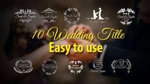 Wedding Title Wedding Titles