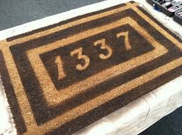 personalized front door mats10 Personalized Door Mats to Greet Your Thanksgiving Guests