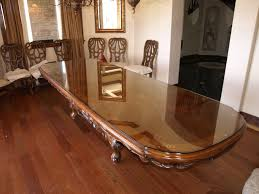 large solid wood desk table tops with glass on top plus beautiful