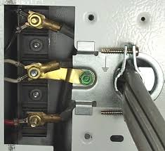 dryer electrical cord connector is a prong wall outlet 4th post or a wire can connect the center post to the 4th post which acts as the bonding strap because the 4th post is connected to the metal frame