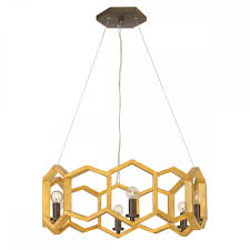 sunset gold and black 6 light chandelier