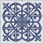 Геометрические орнаменты для вышивки крестом