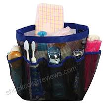 8 pocket shower caddy mesh tote bag quick dry hanging toiletry and bath organizer for travel
