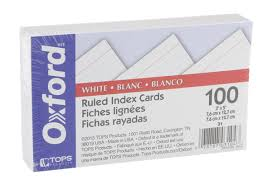 3x5 Cards Oxford White Ruled 3x5 Index Cards Hy Vee Aisles Online