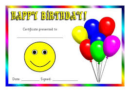 Printable Birthday Award Certificates For Early Years & Ks1 - Sparklebox