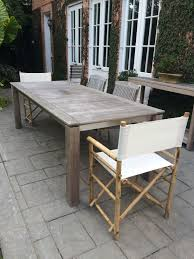 Stainless Steel Outdoor Dining Table Contemporary Teak And Stainless Steel Dining Table Mecox Gardens