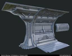 sci fi hallway gmaung wireframe
